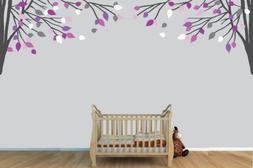 Childrens Wall Decals, Vinyl Purple and Gray Tree Wall Decal
