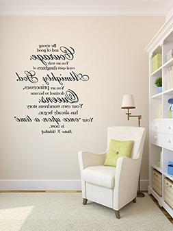 """Christian Quotes Wall Decals, Dieter F Uchtdorf """" Be Strong"""