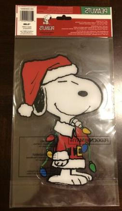 CHRISTMAS Peanuts SNOOPY  Window Gel Clings NIP