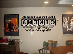 Cinema Theatre customized sign home movie theater vinyl wall
