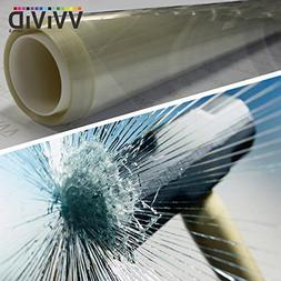VViViD 12 Mil Clear Vinyl Shatterproof Safety Window Film