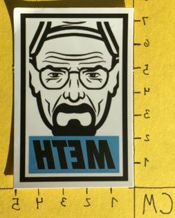 Obey Clothing METH Walter White Vinyl Sticker Decal Laptop S