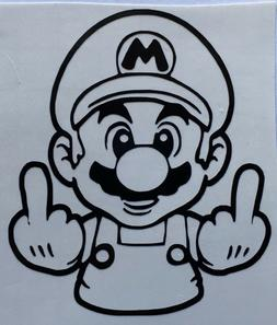 *Color Size/Choice* Nintendo Middle Finger Mario Vinyl Decal