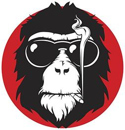 Cool Smoking Monkey Cartoon Icon Vinyl Decal Sticker