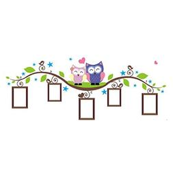 Shensee Couple Owl Family Wall Decal Sticker Removable Photo