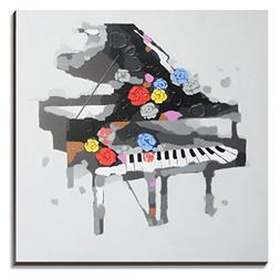 3Hdeko-Large Piano Art Wall Decor for Home Living Room Teen