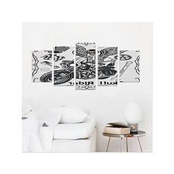 Liguo88 Custom canvas Motorcycle Decor Collection Evil Hipst