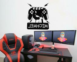 Custom Gamer Name Wall Decals Gaming Room Decoration Boys St