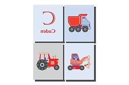 Customize Little Boys Room Decor Transport Construction Them