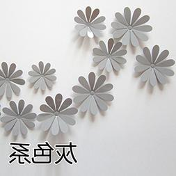 Amaonm 24 PCS Cute 3D DIY Flowers Wall Decals Removale Home