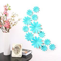 Amaonm® 24 PCS Cute 3D DIY Flowers Wall Decals Removale Hom