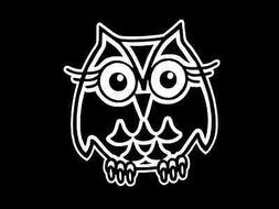 CUTE OWL OWLS Vinyl Decal Car Sticker Wall Truck CHOOSE SIZE