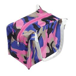 Makaor Cute Portable Lunch Bag Tote Zipper Camouflage Printe