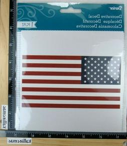 Darcie FLAG DECAL USA Boutique GLASS WOOD PLASTIC SCRAPBOOKI