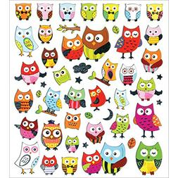 Multicraft Imports Dazzle Creature Pals Pretty Owls Stickers