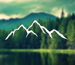 Decal - Mountains Silhouette Mountain Vinyl Decal Car Decal,