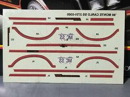 🌟 Decals - 1986 Monte Carlo 1:24 Scl 1000s Model Car Part