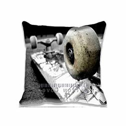 Decor Cotton Throw Pillow Case Macro Skateboard Cushion Cove