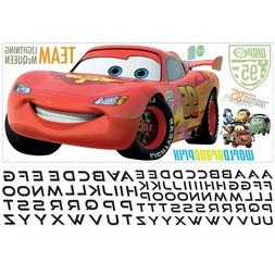 DISNEY CARS 2 BiG Wall Sticker PERSONALIZED NAME Decor LIGHT