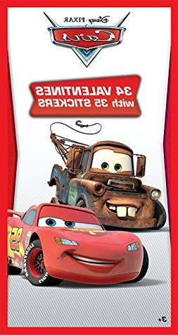 Disney Cars Deluxe Valentine's Day Cards with Stickers - 34