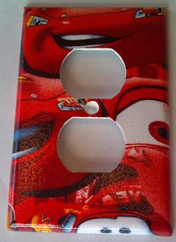 Disney Cars Lightning McQueen Outlet Plate Cover Bedroom Bathroom Wall Decor