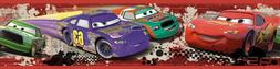 DISNEY CARS Red PISTON CUP RACING Wall Border Room Decor LIG