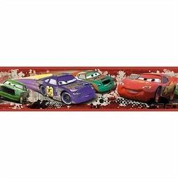 DISNEY CARS WALLPAPER BORDER self stick McQueen Mater Piston