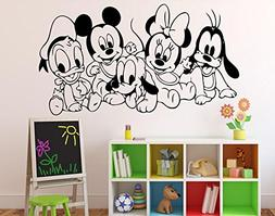 Disney Cartoon Baby Characters Wall Decal Mickey Mouse Vinyl