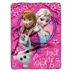 Disney Frozen Springtime Let It Go! Silk Touch Plush Throw -