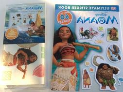 Disney Moana Wall Decals and DK Moana Ultimate Sticker Book