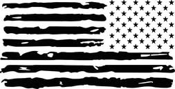 Distressed Flag USA Vinyl Decal  Logo Car Window Sticker pho