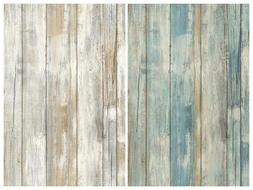 Distressed Wood Peel and Stick Wallpaper Gray Brown White 3D