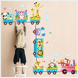 Rainbow Fox DIY Animals Zoo art icecream Train Wall Stickers