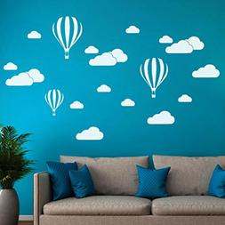 Transer DIY Large Clouds Balloon Wall Sticker Decal Kids Bed