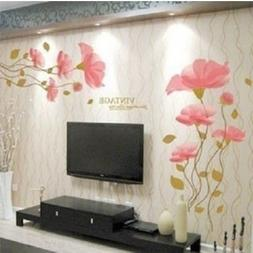 DIY Removable lotus flower Home room Decor Removable Wall St