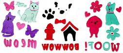 Dog and Cat Lovers Gel Clings - Window  Clings