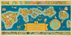 Dole Map of the Hawaiian Islands Vintage Poster  USA c. 1939