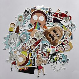 35Pcs/lot Drama Rick and Morty Stickers Decal For Snowboard
