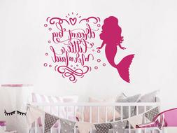 Dream Big Little Mermaid Wall Decal Quote Girls