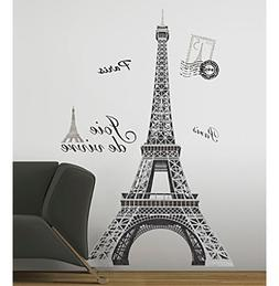 RoomMates Eiffel Tower Peel & Stick Giant Wall Decals