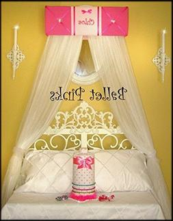 Embroidered Personalized Bed Canopy Hot Pink FREE Sale So Zo