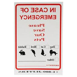 "4"" X 6"" Emergency Pet Rescue Stickers"