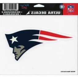 New England Patriots 5 x 6 Colored Ultra Decal