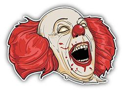 "Evil Clown Head Laughs Sticker Decal Design 5"" X 4"""