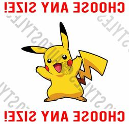 Excited Pokemon Pikachu Pokemon Go - Wall Vinyl Decal Car Wi