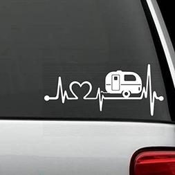 Bluegrass Decals F1026 Camper Travel Trailer Heartbeat Lifel