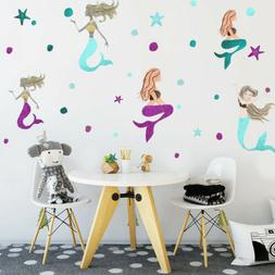 Fairy Tale Girls Room Bedroom Wall Decal Sticker Little Merm