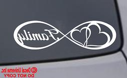 FAMILY HEART Vinyl Decal Sticker Car Window Wall Bumper Live Love Laugh Infinity