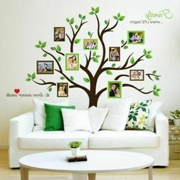 Timber Artbox Large Family Tree Photo Frames Wall Decal - Th