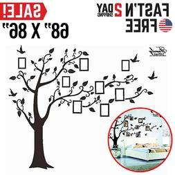 Family Tree Wall Decal Stickers Large Vinyl Frame Art DIY Mu